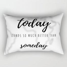 Make It Happen (Black & White) Rectangular Pillow