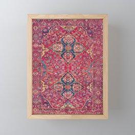 Bakhtiari West Persian Rug Print Framed Mini Art Print
