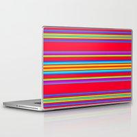 blanket Laptop & iPad Skins featuring Guatemalan Blanket by StudioBlueRoom
