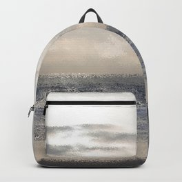 Silver Scene ~ Ocean Ripple Effect Backpack