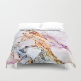 Pink marble detail Duvet Cover
