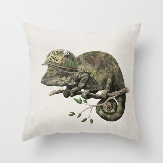 Born to Hide Throw Pillow