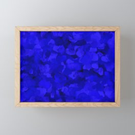 Rich Cobalt Blue Abstract Framed Mini Art Print
