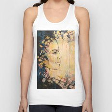 Looking to the Future -beautiful woman Unisex Tank Top
