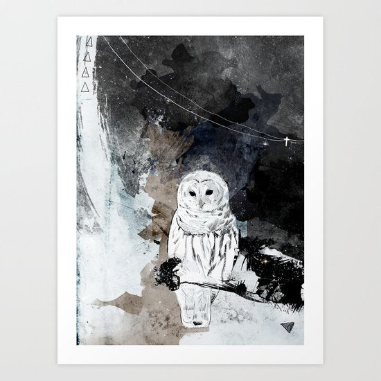 The Owl is a reflection Art Print