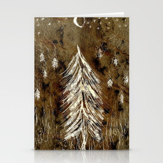 Dawn In A Burning Forest Stationery Cards