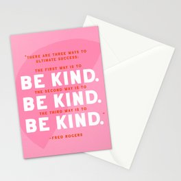 Be Kind Mr. Rogers Quote Stationery Cards