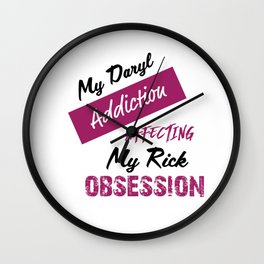 Daryl Addiction Wall Clock