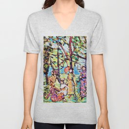 Maurice Brazil Prendergast - By the Sea - Digital Remastered Edition Unisex V-Neck