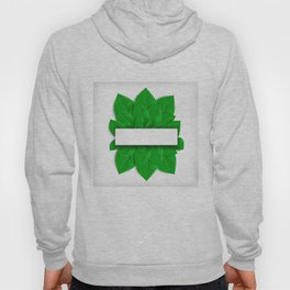 Green leaves with banner Hoody