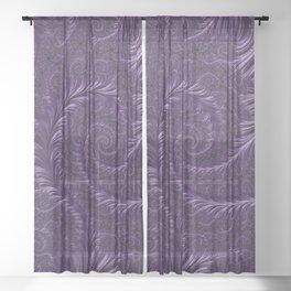 Deep Purple Sheer Curtain