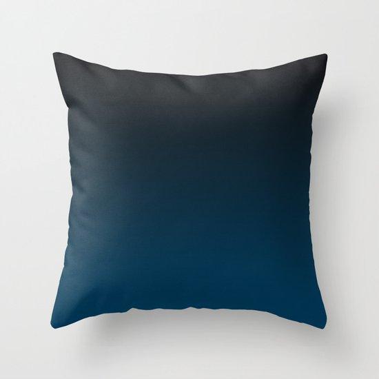 Cerulean Ombre Throw Pillow