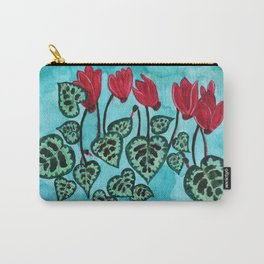 Cyclamen watercolor painting Carry-All Pouch