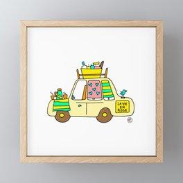 cute car Framed Mini Art Print