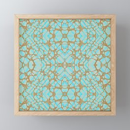 Empress - Gold Veins Pattern Painting Framed Mini Art Print