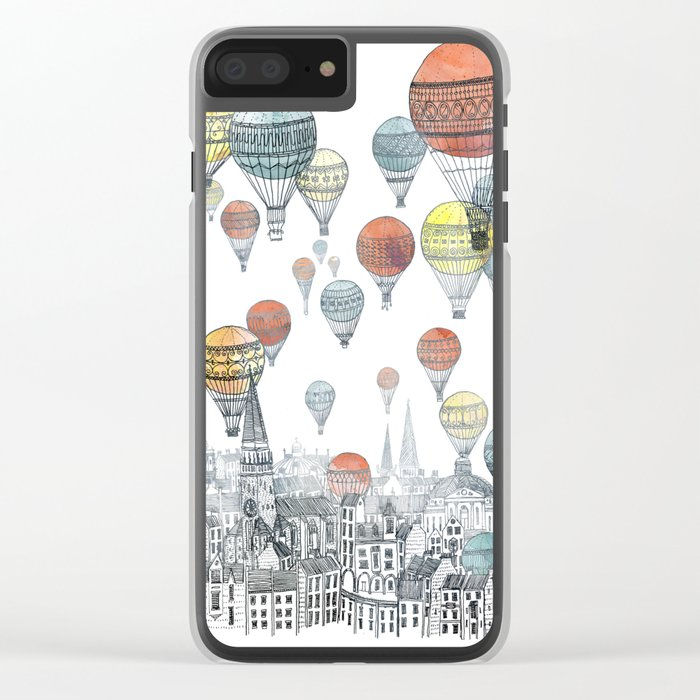 Voyages over Edinburgh Clear iPhone Case