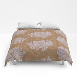 Chrysanthemums and Paisley 2 Comforters
