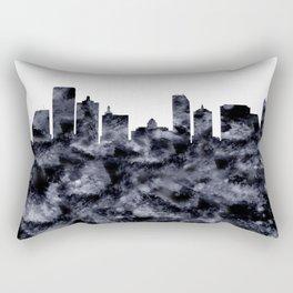 Atlantic City Skyline Rectangular Pillow