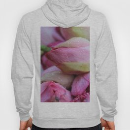 Big Closed Lotos Flower pink Photography Hoody
