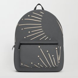 Simply Sunburst in White Gold Sands on Storm Gray Backpack
