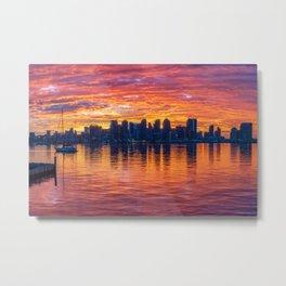 Blazing Sunrise Metal Print