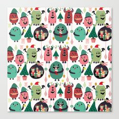 Monster xmas Canvas Print