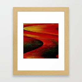 Abstract: travel to Mars Framed Art Print