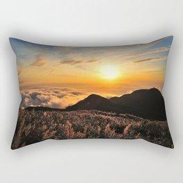Sky Mountain Clouds Rectangular Pillow