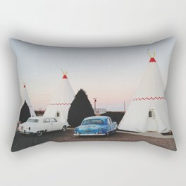 Wigwam Motel Rectangular Pillow