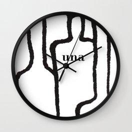 Una white Wall Clock