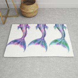 Pastel Mermaid Tails (Color) Rug