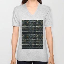 black tile contemporary gloss Unisex V-Neck