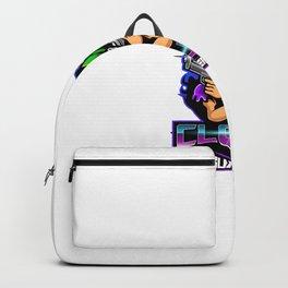 Clown Gunner Esport Mascot Logo Backpack