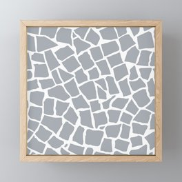 Mosaic Zoom Grey Framed Mini Art Print