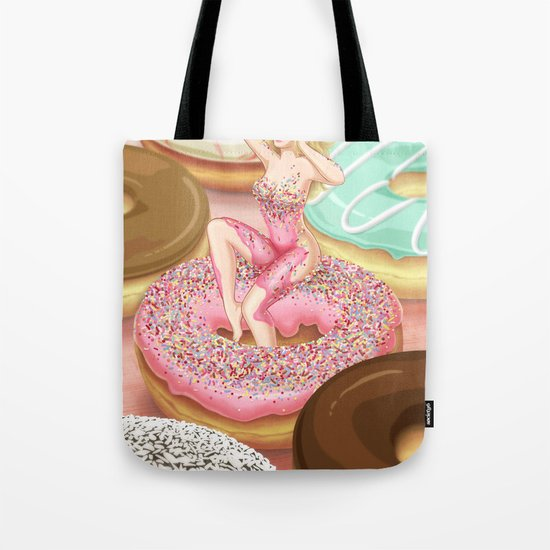 Donut Girl Tote Bag