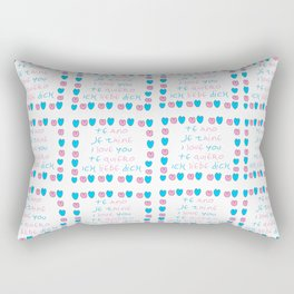 je t'aime 6-i love you,je t'aime,te amo,te quiero,ich liebe dich,love,romantism,romantic,heart,cute Rectangular Pillow