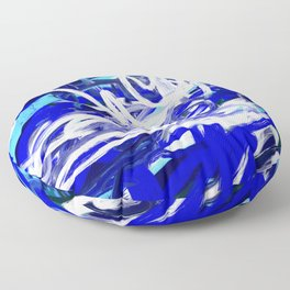 Blue & White Abstract Floor Pillow