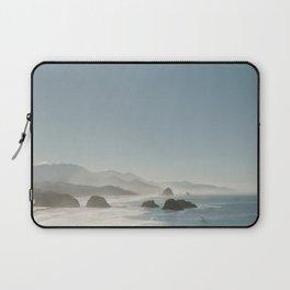 Hazy Morning at Cannon Beach, Oregon - Fine Art Film Travel Photography Laptop Sleeve
