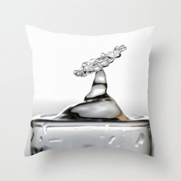 Cold shot glass drop Throw Pillow