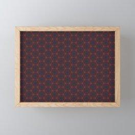 Dark Orange Honeycomb Framed Mini Art Print