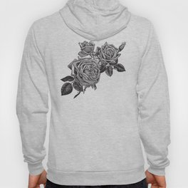 Engraved Roses Illustration Hoody
