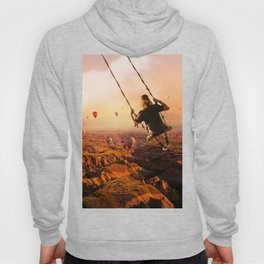 Swinging with Balloons by GEN Z Hoody
