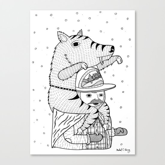 More on the topic of winter hats Canvas Print