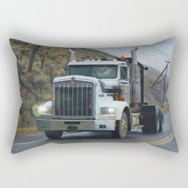 Delivery Done! Truck Art Rectangular Pillow