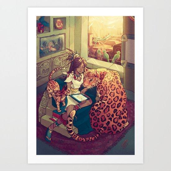 Cihuamiztontli Art Print