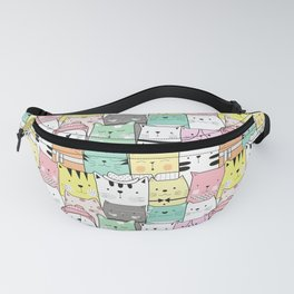 Cute Cats, Cartoon Cats, Pattern Of Colorful Cats Fanny Pack