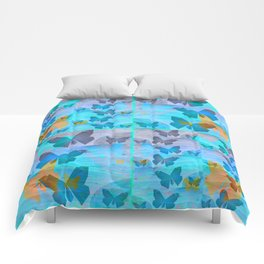 Simple Butterfly Geometric Print Comforters