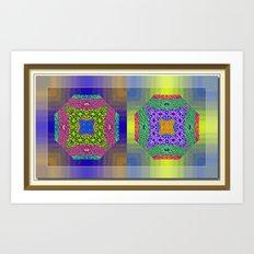 Twin Mandalas Art Print