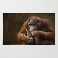 Orangutan and Butterfly Rug