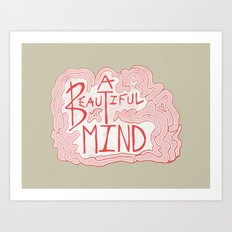 A Beautiful Mind Art Print